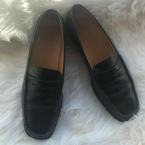 Tods Loafers Flats Size 38 Leather Black